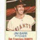 1975 Hostess Jim Barr San Francisco Giants # 13 Nice