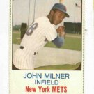 1975 Hostess John Milner New York Mets # 15 Nice