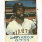 1975 Hostess Garry Maddox San Francisco Giants # 43 Nice
