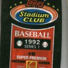 Unopened Pack 1992 Topps Stadium Club Series 1