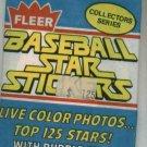 1981 Fleer Baseball Star Stickers Unopened Pack