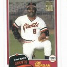 2001 Topps Traded Joe Morgan 1981 Reprint T127 Giants Reds