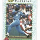 1990 Topps Magazine Bo Jackson Baseball Card Kansas City Royals Oddball