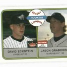 2001 Fleer Platinum David Eckstein Angels Rookie