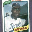 1990 Baseball Cards Magazine Bo Jackson Oddball Kansas City Royals