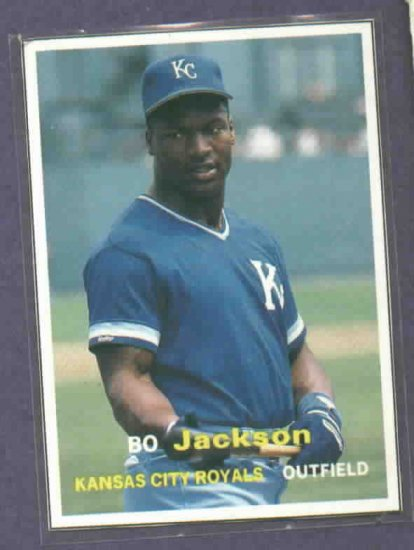 1990 Scd Price Guide Bo Jackson Baseball Card Oddball Kansas City Royals