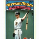 1989 Kmart Dream Team Will Clark Oddball Baseball Card San Francisco Giants