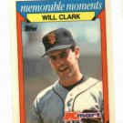 1988 Kmart Memorable Moments Will Clark Oddball Baseball Card San Francisco Giants