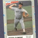 1988 Fleer Star Stickers Roger Clemens Boston Red Sox