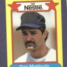 1988 Nestle Don Mattingly Oddball Baseball Card New York Yankees