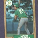 1987 Topps Mark McGwire ROOKIE CARD Oakland A's