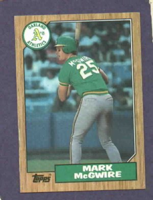 1987 Topps Mark Mcgwire Rookie Card Oakland A S