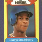 1988 Nestle Darryl Strawberry Baseball Card Oddball New York Mets