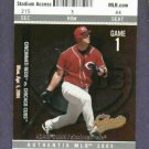 2004 Fleer Authentix Adam Dunn Cincinnati Reds