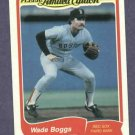 1985 Fleer Limited Edition Wade Boggs Boston Red Sox Oddball