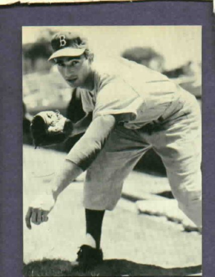 1983 Baseball Card News Sandy Koufax Dodgers Oddball