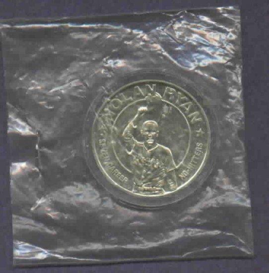 1993 Republic Of Liberia $1 Nolan Ryan Coin 7 No Hitters