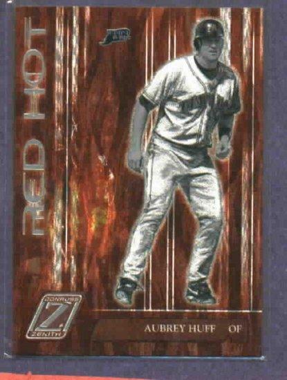 2005 Donruss Zenith Red Hot Aubrey Huff Tampa Bay Rays