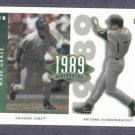 2002 Upper Deck 1989 Flashbacks Mark Grace Cubs Diamondbacks #D/ 4225