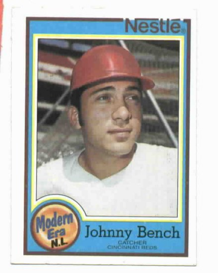 1987 Nestle Johnny Bench Cincinnati Reds Oddball