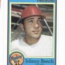 1987 Nestle Johnny Bench Cincinnati Reds Oddball