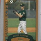 2002 Topps James Rich Harden Oakland A's Rookie
