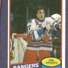 1980 81 Phil Esposito New York Rangers Hockey Card #100