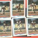 Lot of 6 1985 Fleer Star Stickers Mike Schmidt Stop Action Photo 74 -79
