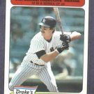 1985 Drakes Big Hitters Don Mattingly Oddball New York Yankees
