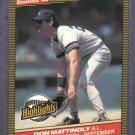 1986 Donruss Highlights Don Mattingly New York Yankees