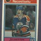 1982 83 O Pee Chee OPC Wayne Gretzky Record Breaker # 1 Oilers