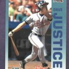 1992 Fleer The Performer Series Dave Justice Atlanta Braves Citgo 7-11 Oddball