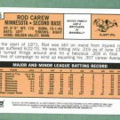 2011 Topps Rod Carew 60 Years Original Back SP Minnesota Twins