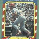 1987 Fleer Limited Edition Pete Rose Cincinnati Reds Oddball