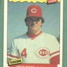 1986 Fleer Baseballs Best Pete Rose Cincinnati Reds Oddball