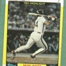 1982 Topps K Mart Pete Rose Phillies Reds Oddball
