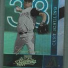 2002 Playoff Absolute Spectrum Curt Schilling Arizona Diamondbacks #d / 100