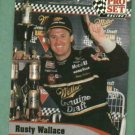 1992 Pro Set Racing Rusty Wallace Nascar