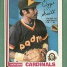 1982 O Pee Chee Ozzie Smith St Louis Cardinals