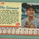 1962 Post Alex Grammas St Louis Cardinals