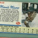 1962 Post Minnie Minoso Chicago White Sox