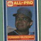 1987 Burger King All Pro Fernando Valenzuela Darryl Strawberry Oddball Mets Dodgers