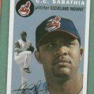 2003 Topps Heritage CC Sabathia Cleveland Indians Yankees