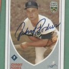 2002 Topps Super Teams Johnny Podres Autograph Los Angeles Dodgers
