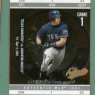 2004 Fleer Authentix Mark Teixeira Texas Rangers Yankees