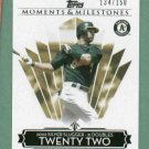 2008 Topps Moments & Milestones Eric Chavez Oakland A's #D /158