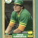 1987 O Pee Chee Jose Canseco Oakland A's Rookie # 247