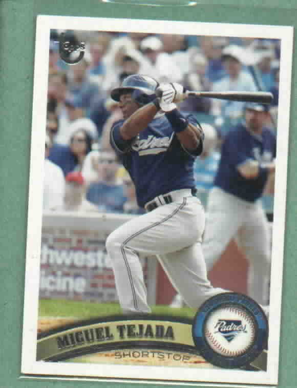 2011 Topps Target Gray Umbrella Miguel Tejada San Diego Padres # 133 SP