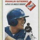 2003 Topps Heritage Franklin Gutierrez Dodgers Mariners #52