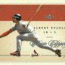 2004 Fleer Classic Clippings Albert Pujols St Louis Cardinals # 17
